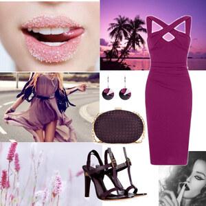 Outfit violett von Claudia Giese
