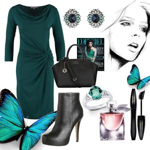 Outfit dunkelgrün von Claudia Giese