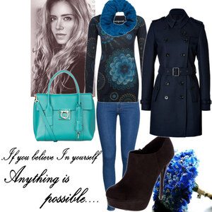 Outfit blue von Claudia Giese