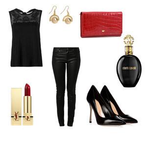 Outfit Black&Red Sin  von Janina Gurlitt