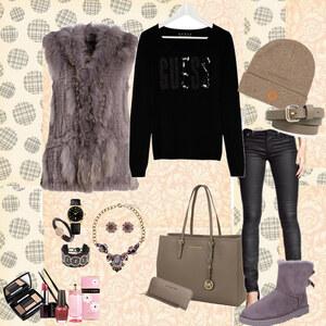 Outfit new trend Fellwesten von Natalie