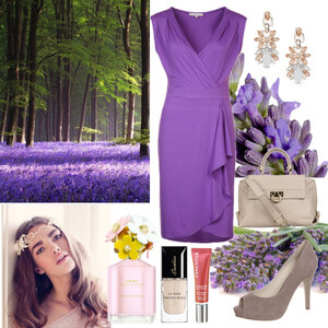Outfit lavendel von Claudia Giese