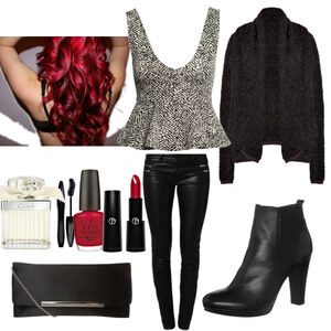 Outfit Black/white/red <3 von Nisa