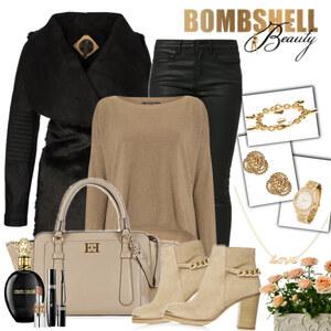 Outfit gold black von Justine