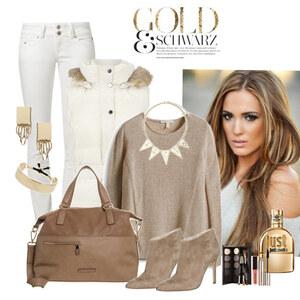 Outfit Gold schwarz von Justine