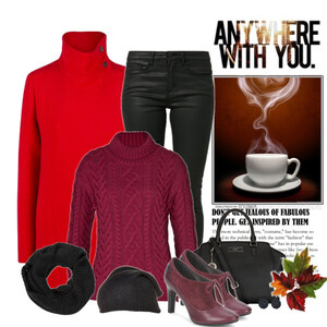 Outfit red coat von Ania Sz