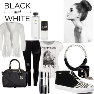 Outfit black and white von YAS MINA