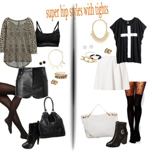 Outfit super hip styles with tights! von Natalie