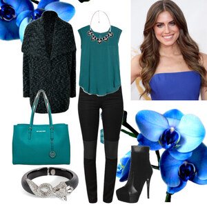 Outfit petrol von Claudia Giese