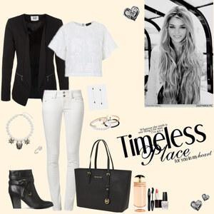 Outfit black&white von Natalie