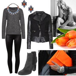Outfit orangene Accesoires von Claudia Giese