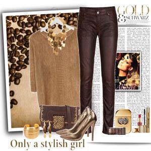 Outfit gold coffee von Ania Sz
