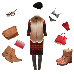 Outfit Farbtupfer im Winter von vaijana