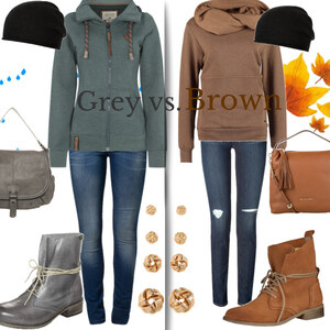Outfit grey vs. brown von Claudia Giese