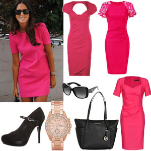 Outfit brown skin-pink dress von Claudia Giese
