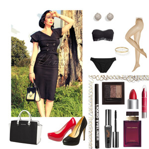 Outfit Black 50' Lady With Red Touch von Lisa Werner