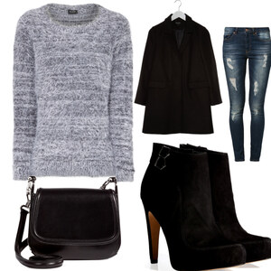 Outfit Flauschiger Pullover von Frabau2509