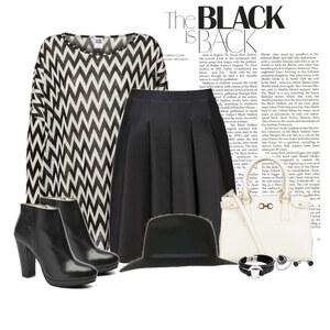 Outfit B&W von Ania Sz
