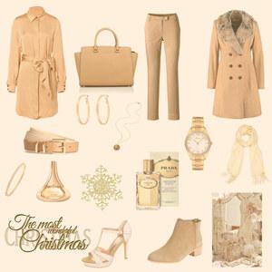 Outfit goldene weihnacht von selinavolk