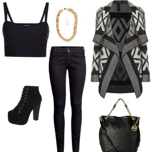 Outfit black and gold von Hannah E. Schneider