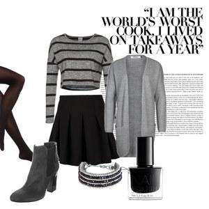 Outfit Schick in Grau und Schwarz von Verena Schnall