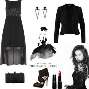 Outfit The Black Dress von selinavolk