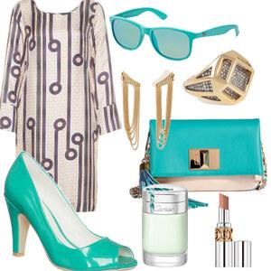 Outfit Türkis von FashionEule