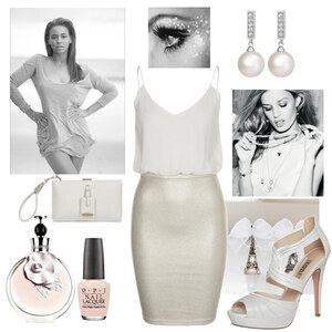 Outfit white and glidder von Claudia Giese