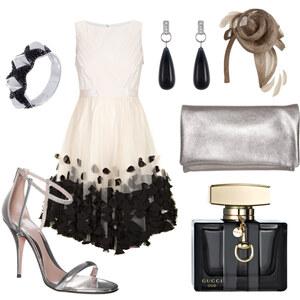 Outfit schwarweißsilber von FashionEule