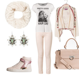 Outfit rosé von Claudia Giese