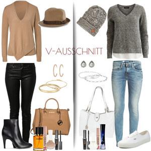 Outfit V-Ausschnitt von Natalie