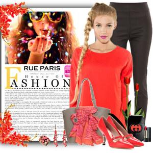 Outfit coral von Ania Sz