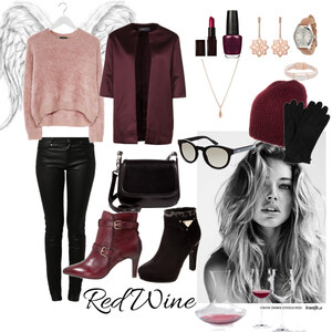 Outfit Red Wine von cansu-z