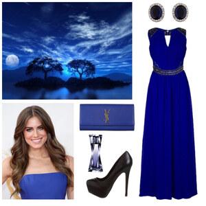 Outfit Königsblau von Claudia Giese