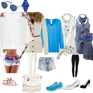 Outfit blauweißer Sommer von Nur Zocken
