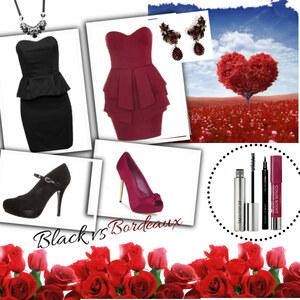 Outfit Black vs Bordeaux von Claudia Giese