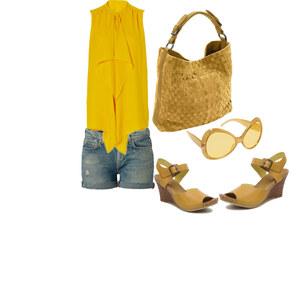 Outfit yellow day  von Evrim Gündüz