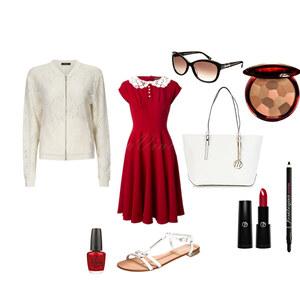 Outfit red white von Evrim Gündüz