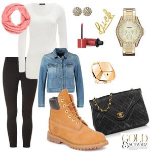 Outfit Gold & Schwarz von Miry