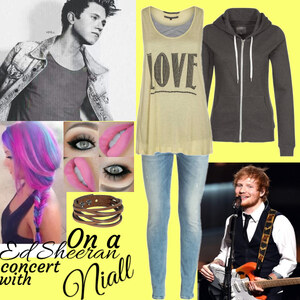 Outfit Ed Sheeran concert with niall von Lisa Bunzel