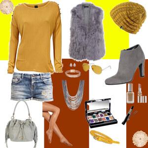 Outfit grau braun von Charliee