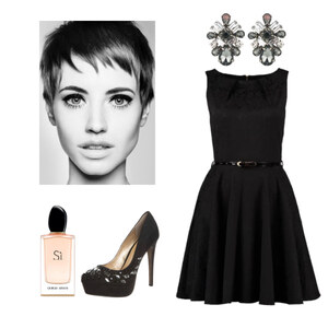 Outfit black dress von Claudia Giese