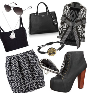 Outfit Black and White  von Jeanine