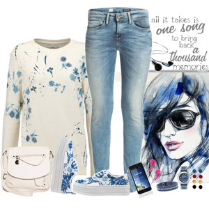 Outfit blue and white von Ania Sz