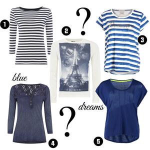 Outfit Schöne blaue T-Shirts von domodi