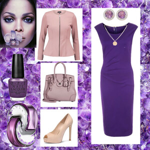 Outfit lila von Claudia Giese