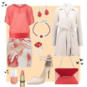 Outfit Shades of Red von Annik