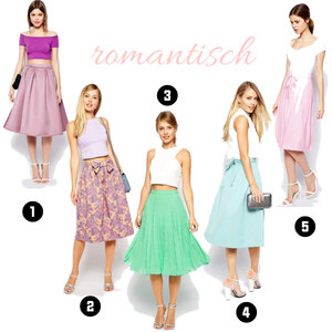Outfit Romantische Midiröcke von domodi