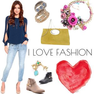 Outfit I LOVE FASHION von Lesara