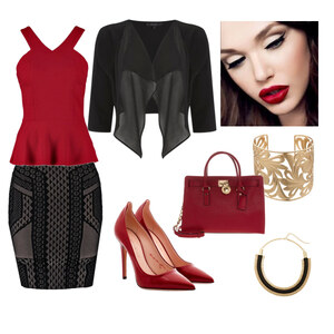 Outfit black  'n red von Claudia Giese